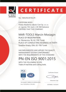 Certificate – Quality Management System
